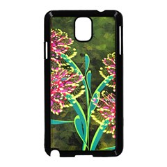 Flowers Abstract Decoration Samsung Galaxy Note 3 Neo Hardshell Case (black) by Nexatart