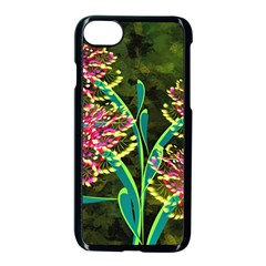 Flowers Abstract Decoration Apple iPhone 7 Seamless Case (Black)