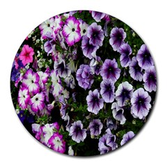 Flowers Blossom Bloom Plant Nature Round Mousepads by Nexatart