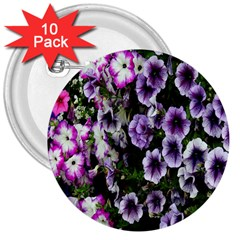 Flowers Blossom Bloom Plant Nature 3  Buttons (10 Pack)  by Nexatart