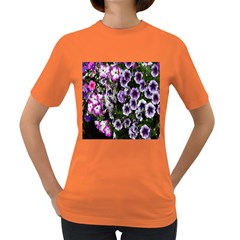 Flowers Blossom Bloom Plant Nature Women s Dark T Shirt