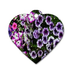 Flowers Blossom Bloom Plant Nature Dog Tag Heart (two Sides) by Nexatart
