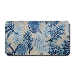 Flowers Blue Patterns Fabric Medium Bar Mats by Nexatart