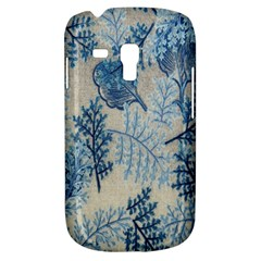 Flowers Blue Patterns Fabric Galaxy S3 Mini