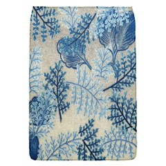 Flowers Blue Patterns Fabric Flap Covers (s)  by Nexatart