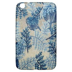 Flowers Blue Patterns Fabric Samsung Galaxy Tab 3 (8 ) T3100 Hardshell Case