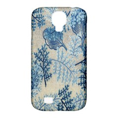 Flowers Blue Patterns Fabric Samsung Galaxy S4 Classic Hardshell Case (pc+silicone)