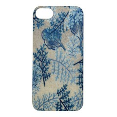 Flowers Blue Patterns Fabric Apple Iphone 5s/ Se Hardshell Case
