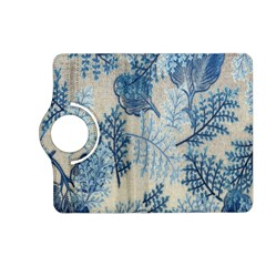 Flowers Blue Patterns Fabric Kindle Fire Hd (2013) Flip 360 Case by Nexatart