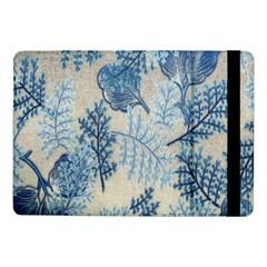Flowers Blue Patterns Fabric Samsung Galaxy Tab Pro 10 1  Flip Case