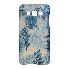 Flowers Blue Patterns Fabric Samsung Galaxy A5 Hardshell Case  by Nexatart