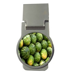 Food Summer Pattern Green Watermelon Money Clips (round)
