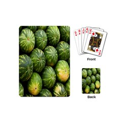 Food Summer Pattern Green Watermelon Playing Cards (mini)