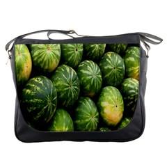 Food Summer Pattern Green Watermelon Messenger Bags