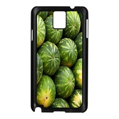 Food Summer Pattern Green Watermelon Samsung Galaxy Note 3 N9005 Case (black)