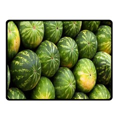 Food Summer Pattern Green Watermelon Double Sided Fleece Blanket (small)  by Nexatart