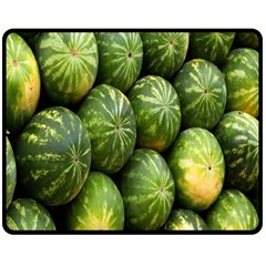 Food Summer Pattern Green Watermelon Double Sided Fleece Blanket (medium)