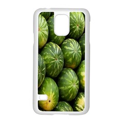 Food Summer Pattern Green Watermelon Samsung Galaxy S5 Case (white)