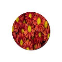 Flowers Nature Plants Autumn Affix Rubber Coaster (round)  by Nexatart