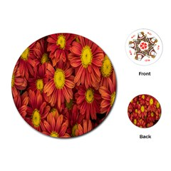 Flowers Nature Plants Autumn Affix Playing Cards (round)  by Nexatart