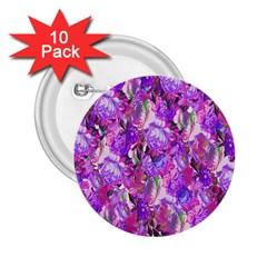 Flowers Abstract Digital Art 2 25  Buttons (10 Pack)  by Nexatart