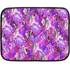Flowers Abstract Digital Art Double Sided Fleece Blanket (mini)