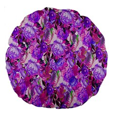 Flowers Abstract Digital Art Large 18  Premium Round Cushions