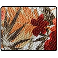 Fall Colors Double Sided Fleece Blanket (medium)  by Nexatart