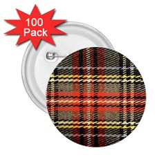 Fabric Texture Tartan Color 2 25  Buttons (100 Pack)