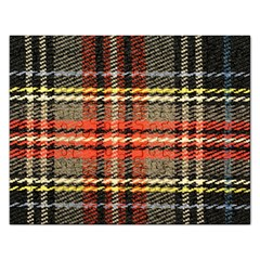 Fabric Texture Tartan Color Rectangular Jigsaw Puzzl by Nexatart