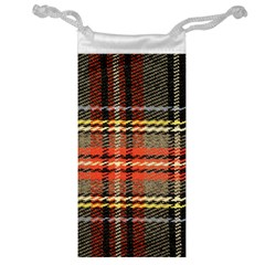 Fabric Texture Tartan Color Jewelry Bag