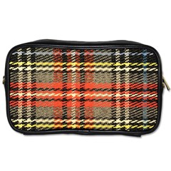 Fabric Texture Tartan Color Toiletries Bags