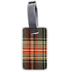 Fabric Texture Tartan Color Luggage Tags (two Sides)