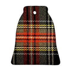 Fabric Texture Tartan Color Bell Ornament (two Sides)
