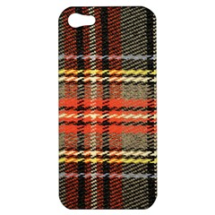 Fabric Texture Tartan Color Apple Iphone 5 Hardshell Case