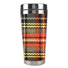 Fabric Texture Tartan Color Stainless Steel Travel Tumblers