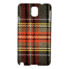 Fabric Texture Tartan Color Samsung Galaxy Note 3 N9005 Hardshell Case