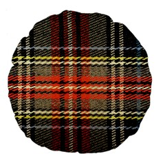 Fabric Texture Tartan Color Large 18  Premium Flano Round Cushions by Nexatart