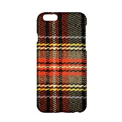 Fabric Texture Tartan Color Apple Iphone 6/6s Hardshell Case