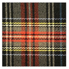 Fabric Texture Tartan Color Large Satin Scarf (square)