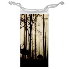 Forest Fog Hirsch Wild Boars Jewelry Bag