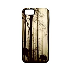 Forest Fog Hirsch Wild Boars Apple Iphone 5 Classic Hardshell Case (pc+silicone)