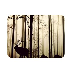 Forest Fog Hirsch Wild Boars Double Sided Flano Blanket (mini)  by Nexatart