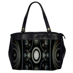 Fractal Beige Blue Abstract Office Handbags by Nexatart