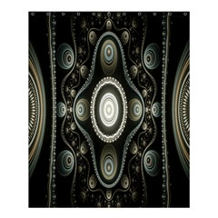 Fractal Beige Blue Abstract Shower Curtain 60  X 72  (medium)  by Nexatart