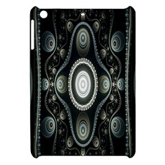 Fractal Beige Blue Abstract Apple Ipad Mini Hardshell Case