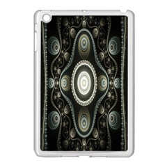 Fractal Beige Blue Abstract Apple Ipad Mini Case (white) by Nexatart