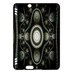 Fractal Beige Blue Abstract Kindle Fire HDX Hardshell Case by Nexatart