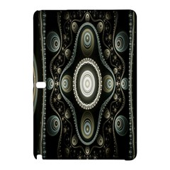 Fractal Beige Blue Abstract Samsung Galaxy Tab Pro 10 1 Hardshell Case