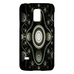 Fractal Beige Blue Abstract Galaxy S5 Mini by Nexatart